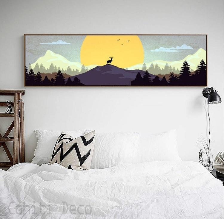 北歐掛畫鹿掛畫