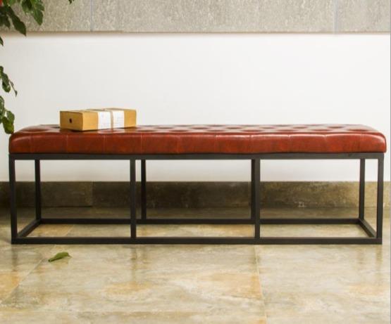 皮革矮凳長凳穿鞋凳
