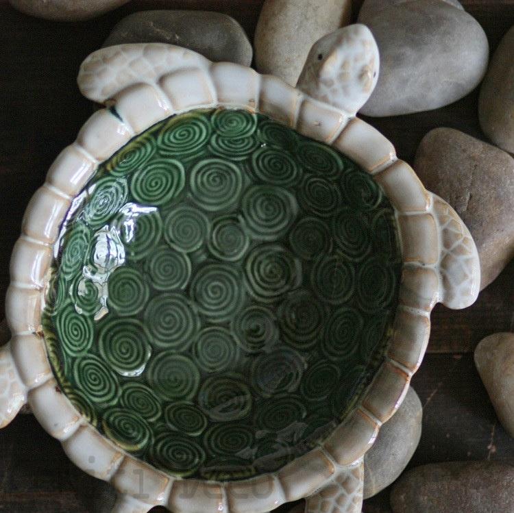 陶瓷烏龜裝飾盤