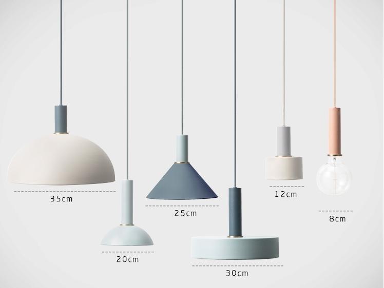 北歐多色燈具