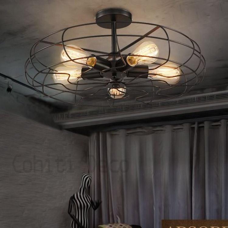 工業風風扇吸頂燈