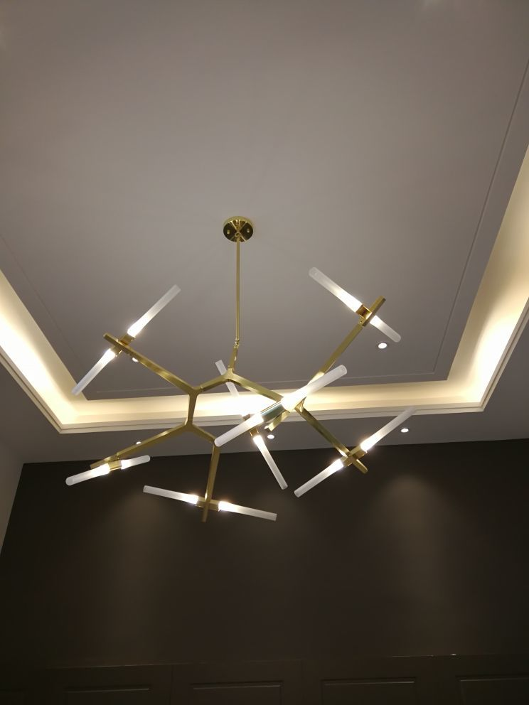 後現代簡約樹枝led吊燈