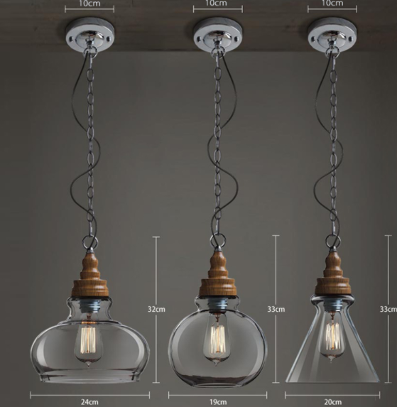實木製作北歐燈具
