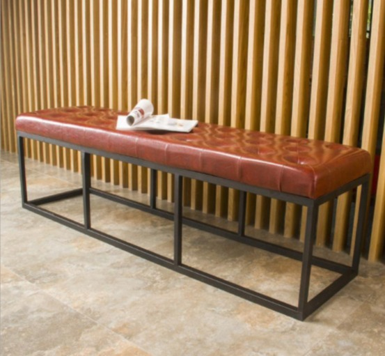 皮革矮凳長凳穿鞋凳拖曳以移動